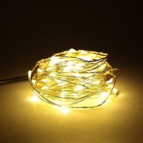 Guirnalda 2m hilo cobre 20 luces LED, funciona pilas