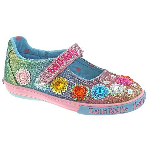 Lelli Kelly Lk5070 Regenbogen Dolly Schuh, Regenbogen Glitzer Pumps mit Leder-Innensohle 27 Multi