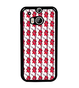 PrintDhaba Pattern D-6090 Back Case Cover for HTC ONE M8 (Multi-Coloured)