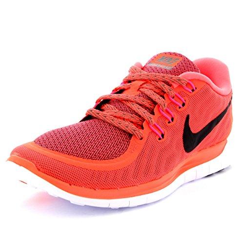 Nike Damen Laufschuhe Sneaker Nike Free 5.0 724383-801, Arancione (Orange (hot lava/black/tumbled grey))