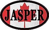 4in x 2.5in Oval Canadian Flag Jasper Sticker by StickerTalk®