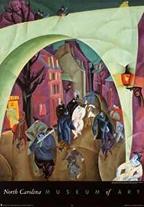 Reproduction d'art 'Le pont vert II', de Lyonel Feininger, Taille: 49 x 70 cm