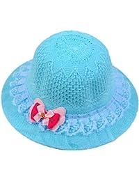 f2073f98d23 Baby Grow Summer Beach Playing Straw Hat Summer Sun hat Pot Color Beautiful  hat Sunscreen Child