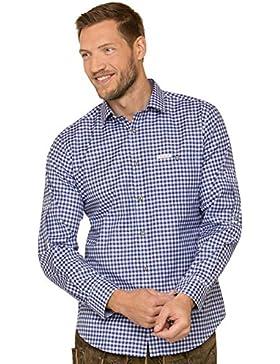 Trachtenhemd Langarm Comfort Fit CAMPOS3 Blau