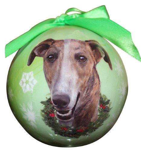 Windhund Weihnachten Ornament bruchsicher Ball einfach, ein ideales Geschenk für Liebhaber (Vogel-ornamente Weihnachten)