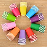 Gespout Disposable Color Paper Cup Children Creative DIY Material Pack of 10(Yellow)