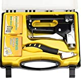 WiMas 3 in 1 Handtacker Set, Tackerpistole, Tacker Set, mit Klammerentferner und 900 Heftklammern