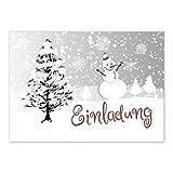 15 x Einladungskarten mit Umschlag zur Weihnachtsfeier/Motiv: Schneemann/Weihnachten/Christmas Party/Einladung/für Firmen