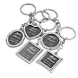 BESTOYARD 5pcs Bilderrahmen Keychain Set Mini Bilderrahmen Schlüsselanhänger Ornament personalisierte