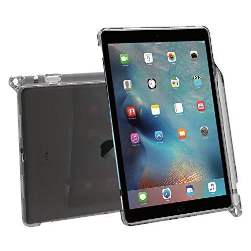 Custodia iPad Pro 9,7, Poetic [Serie Clarity]-[Trasparente][Compatibile con tastiera][Reggipenna] Custodia alla moda sottile in TPU per iPad Pro 9,7 (2016) con reggi penna, compatibile con tastiera Apple Smart Keyboard Trasparente Grigio (3 Anni di Garanzia del Produttore Poetic) - Pro Gel Grip