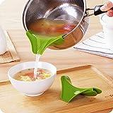 SwirlColor cucina in silicone Gadget Beccuccio Mess libero Versare liquido minestra d'olio dalle ciotole Pentole Pentole