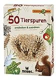 moses. Expedition Natur - 50 Tierspuren| Bestimmungskarten im Set | Mit spannenden Quizfragen