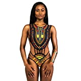 Mitlfuny Damen Afrika Bikini-Set drucken Push-up gepolstert BH Badeanzug Bademode (s, Schwarz)