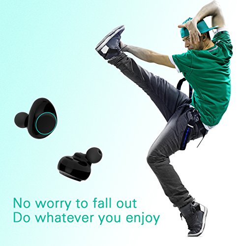 HolyHigh Bluetooth Kopfhörer in Ear Bluetooth Headset Stereo-Minikopfhörer Sport Wasserdicht mit Ladekästchen und Integriertem Mikrofon für Android Samsung iPad Huawei HTC (Dämmerung) - 6