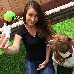 Alftek Lot de 1 bâton de Selfie Stick Ball Jouet d'entraînement Smartphone Appareil Photo Accessoire pour Photos