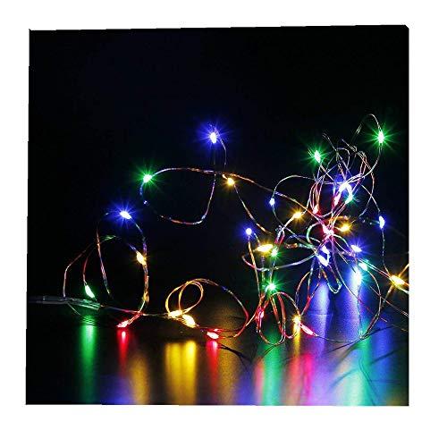 ODJOY-FAN 6 Stück 2m 20LED Dekoration Licht, Farbe Beleuchtung Zeichenfolge Batterie Sternenklar Kupfer Draht Dekor Lichter Dekorativ Licht String Lights (Multicolor,6 PC)