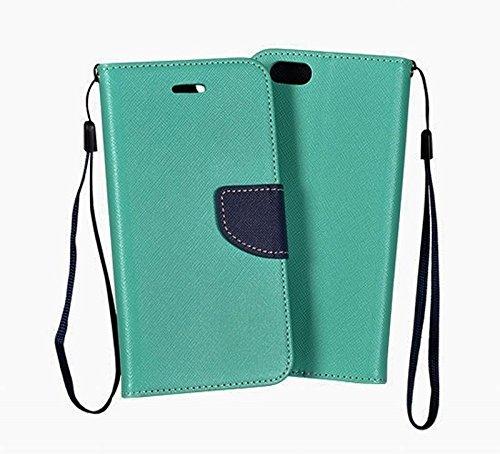 Fancy case für Handy Apple iPhone Case Handytasche mint / marineblau