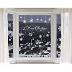 heekpek Adesivi Fiocchi Neve di Natale Fiocchi di Neve Decorazione per Finestre Fiocchi di Neve Decorati con Decorazioni Natalizie e Invernali
