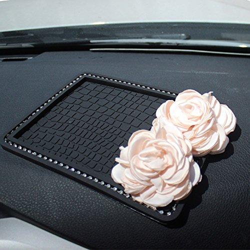 Preisvergleich Produktbild Auto Diamanten Mobiltelefon rutschfeste Matten Rose's Blumen Frauen Auto benutzt das Telefon Parfüm nicht-Slipmat, B