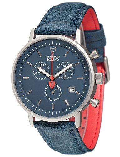DeTomaso Men's Quartz Watch Chronograph Display and Leather Strap DT1052-W