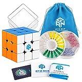 Coogam Gan 356X Geschwindigkeits Würfel 3x3 Stickerless Gans 356 X Magnetisch Puzzle Würfel 3x3x3 Zauberwürfel Ohne Aufkleber (IPG V5 Ausführung)