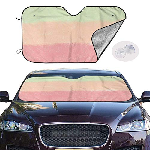 Xhayo Pare Soleil Pare Brise Car Windshield Sun Shade SUV Trucks Automotive Minivan UV Ray Heat Reflector Visor Protector Front Window Sunshade,Watercolor Palette Pattern