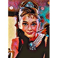 """Aluminium metal wall art """"Audrey Hepburn"""""""