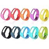 XCSOURCE® 10STK Silikon Ersatz Armband Schnalle mit Klammer für Garmin Vivofit Armband Tracker (Größe: L; 60. - 8.3 Inches) TH097
