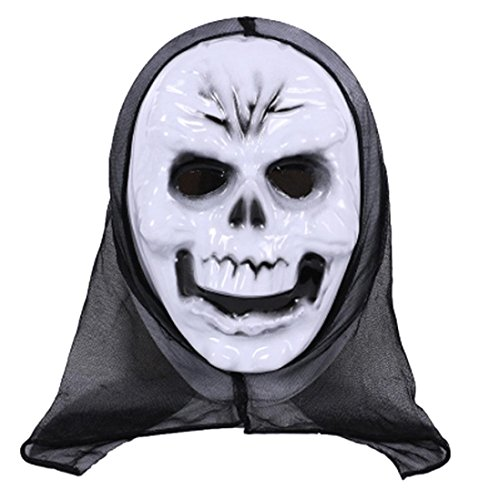 EARS - Halloween Party Cosplay Maske Terror Ghost Maske (D) (Böse Hexe Kostüm Plus Size)