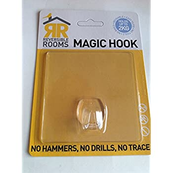 Umschaltbar Räume Magic Hook, transparent-ohne Bohren