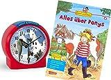 Atlanta Kinderwecker Ohne Ticken Pferde mit Lernbuch Conni Buch Alles über Ponys - 1189/1 BU