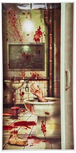 Halloween Blutiges Badezimmer Türdeko - Einheitsgröße (Halloween Türdekoration)