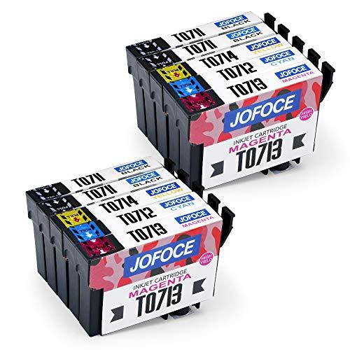 Jofoce Sostituzione per EPSON T0711 T0712 T0713 T0714 T0715 Cartucce d'inchiostro, Compatibile con Epson Stylus Office BX300F BX310FN BX610FW, Stylus SX115 SX215 DX8400 SX218 SX515W SX200 DX7400