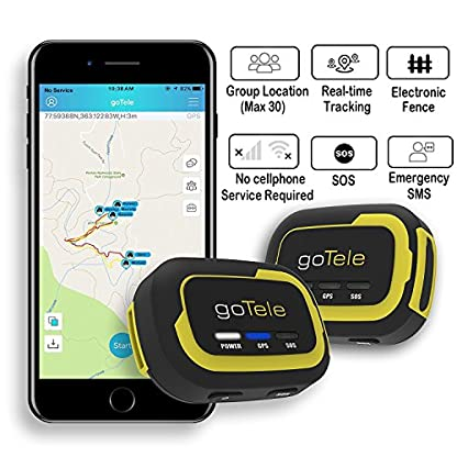 goTele Offline Outdoor Real Time GPS Tracker for Exploration Camping Climbing Skiing and Pets,Max 30 Members GPS location SMS SOS,No SIM card network required 2