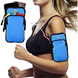 Multifunctional Outdoor Sports Armband, KACOOL Sweatproof Running Armbag Casual Arm Package Bag Gym Fitness Cell Phone Bag Key Holder for iPhone X 8 7Plus 6sPlus Samsung Galaxy Note 5 4 S8 S7 Edge Plus