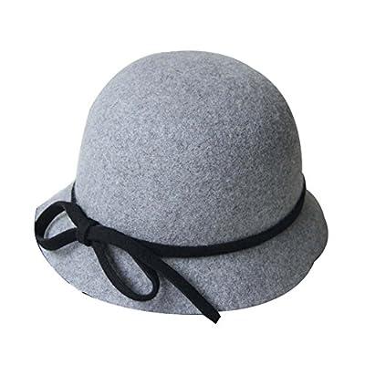 Eleganter Kleiner Bowknot-Billycock-Wollbowler-Hut Wollfilz-Hut