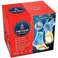 The HEAT company Fußwärmer | 8 Stunden warme Füße | passend für alle Schuhe | extradünn – optimaler Tragekomfort | sofort einsatzbereit | 100% natürlich | selbstklebend | 5, 15 oder 40 Paar