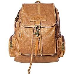 Mochilas Mujer,Coofit Vintage PU Cuero Bolso Mochila Escolar Daypacks