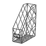 Einreihiges Lagerregal aus Schmiedeeisen - Schreibtisch Magazin Magazin Aufbewahrungsbox - Finishing Rack - Desktop-Datei-Management-Rack Eisen, langlebig und leicht zu reinigen