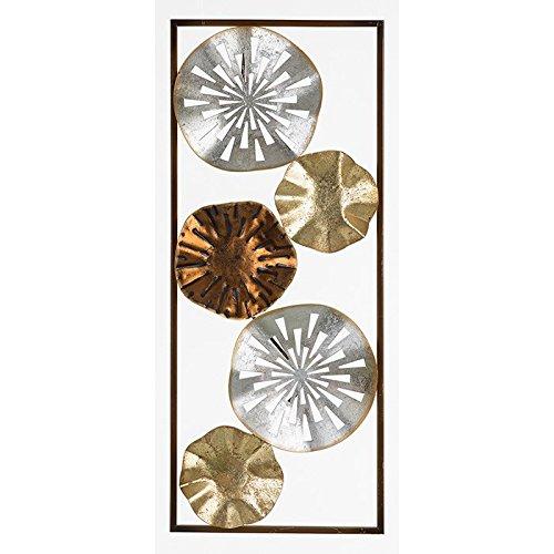 Tones Decoración pared metal hojas metálicas lirio