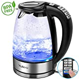 Electric Kettle with Temperature Memory Control Yoleo Glass Tea Maker Stainless Steel Heat