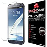 TECHGEAR® Samsung Galaxy Note 2 (N7100 / N7105) GLASS Edition Genuine Tempered Glass Screen Protector Guard Cover (Galaxy Note 2)