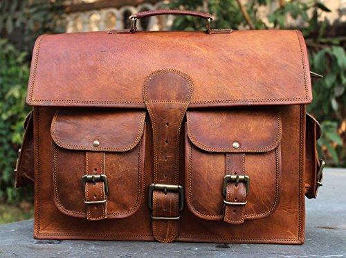 Leather Laptop Briefcase Messenger Satchel Bag, Handmade Vintage Leather Rustic Leather Bag