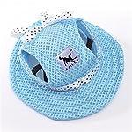 Minkoll Dog Baseball Cap, Puppy Chihuahua Striped Sun Hat Small Pet Dog Cat(S,Blue) 5
