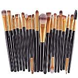 Sannysis 20pcs / set Make-Up Pinselsets, Make-up Körperpflege -Set (Schwarz)