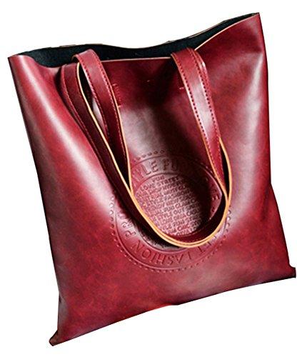 HERME Damen Tote-Tasche rot weinrot (Handtasche Taschen Hermes)