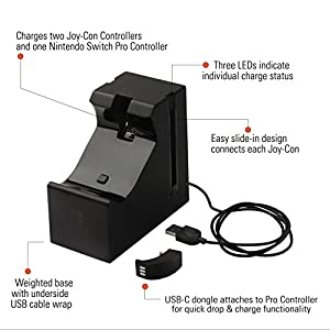 BDA – Joy-Con & Pro Controller Charging Dock for Nintendo Switch : SWITCH , ML