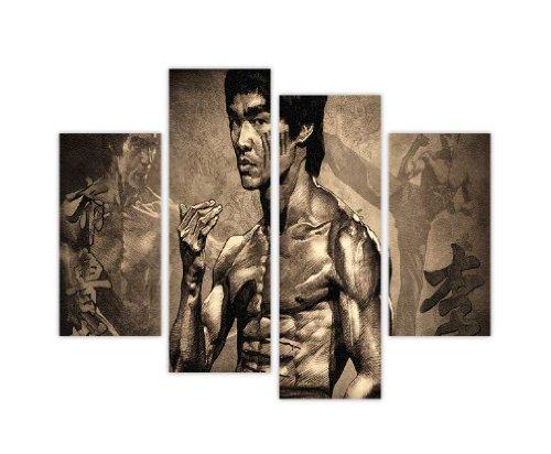 CANVAS IT UP Mehrteiliges Set mit Kunstdruck auf Leinwand, Bruce Lee, 4-teilig, 90 x 71cm