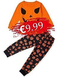 TUONROAD Niños Pijama Estampado Ropa de Dormir Manga Larga Pjs 2 Piezas Mono para niños Edades