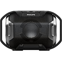 Philips SB300B/00 - Altavoz Bluetooth portátil inalámbrico (luces LED, a prueba de agua IPX7 y golpes, LED multicolor), negro